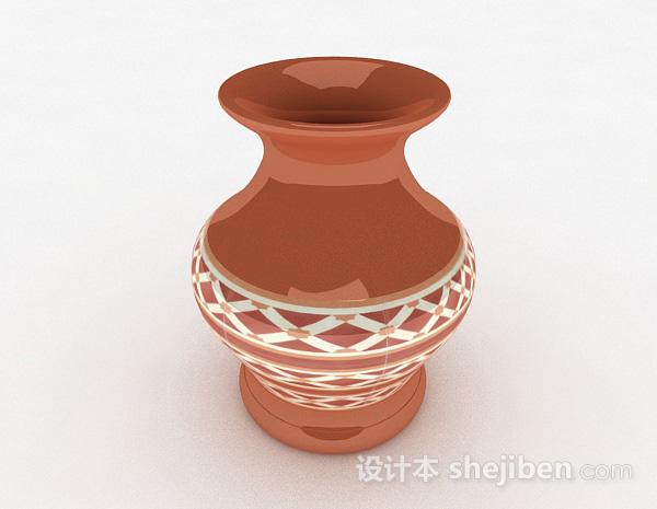 中式风格广口花瓶