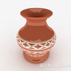 中式风格广口花瓶3d模型下载