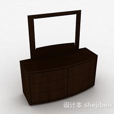 棕色简约梳妆台3d模型下载