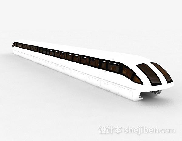 现代风格白色高铁模型摆件