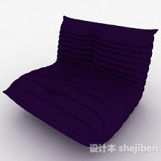 紫色简约榻榻米靠垫沙发3d模型下载