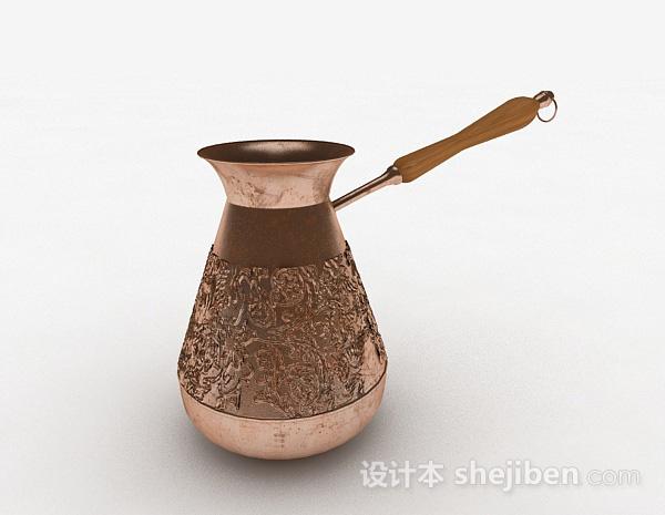 欧式风格金属雕花水壶