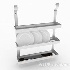 白色餐盘架子3d模型下载