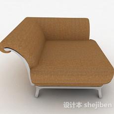 棕色单人沙发3d模型下载