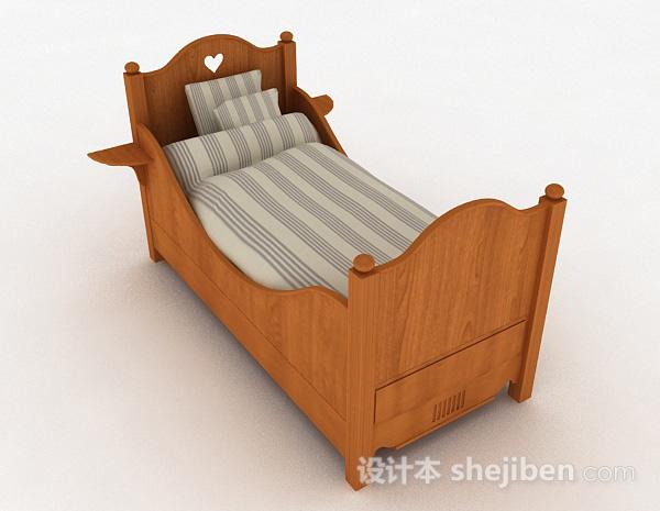 木质儿童单人床