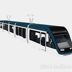 现代风格蓝皮火车3d模型下载