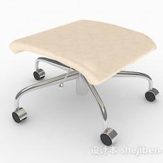 家居轮滑凳子3d模型下载