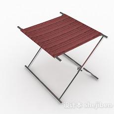 红色布凳子3d模型下载
