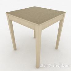 浅棕色餐桌3d模型下载