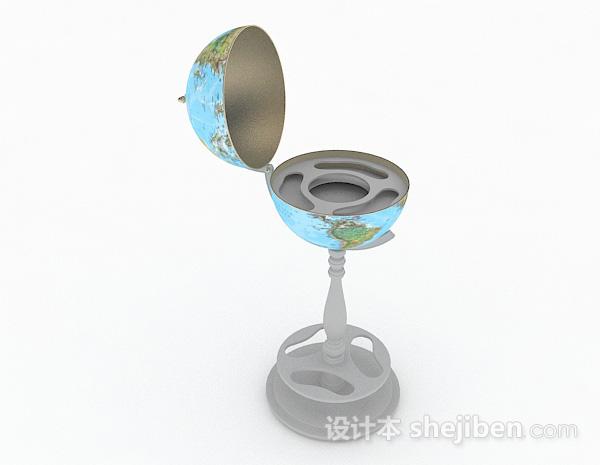 现代风格空心地球仪模型