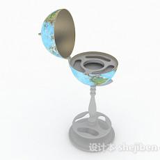 现代风格空心地球仪3d模型下载