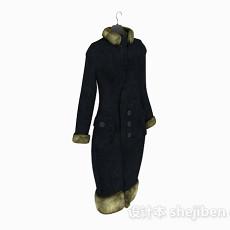 女士外套大衣3d模型下载
