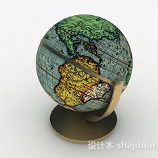 现代风格地球仪英文版3d模型下载