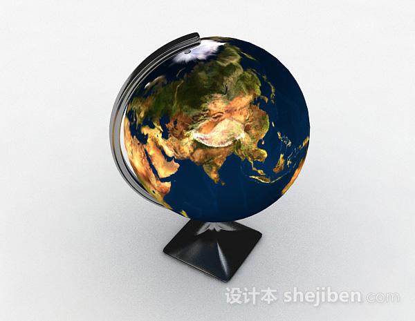 工业风地球仪模型摆件