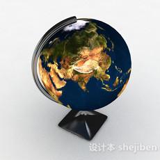 工业风地球仪摆件3d模型下载