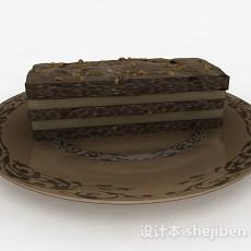 棕色巧克力蛋糕甜品3d模型下载