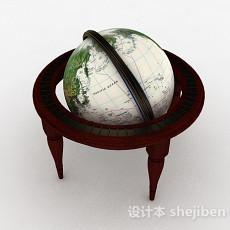 欧式风格地球仪3d模型下载