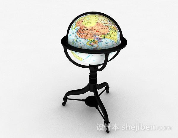 现代风格地球仪模型