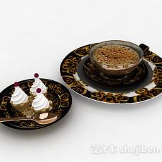 法式下午茶点心咖啡3d模型下载