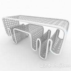现代时尚白色造型凳子3d模型下载