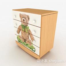 卡通玩具熊家居床头柜3d模型下载