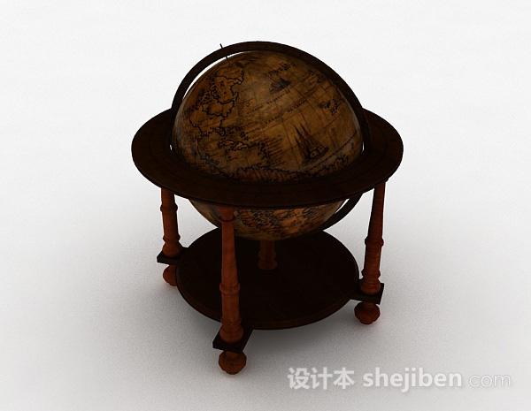 欧式风格木质地球仪