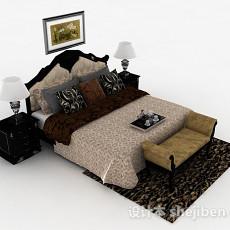 欧式风格家居双人床3d模型下载