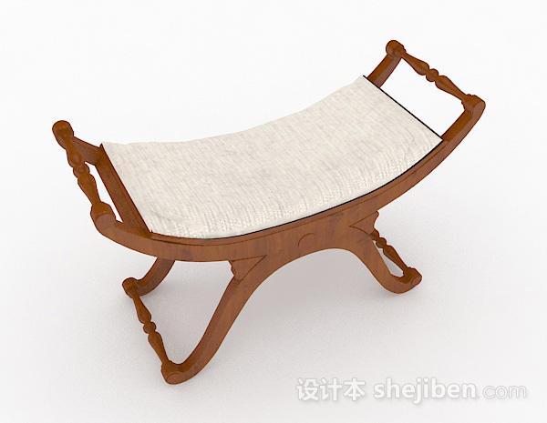 棕色木质休闲椅
