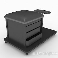 现代风格黑色储物柜3d模型下载