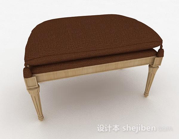 欧式古典沙发凳