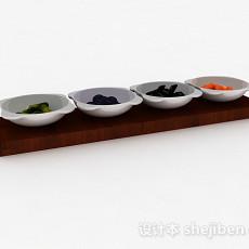 开胃小菜碟3d模型下载