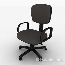 黑色办公椅3d模型下载