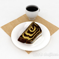 现代风格营养下午茶3d模型下载