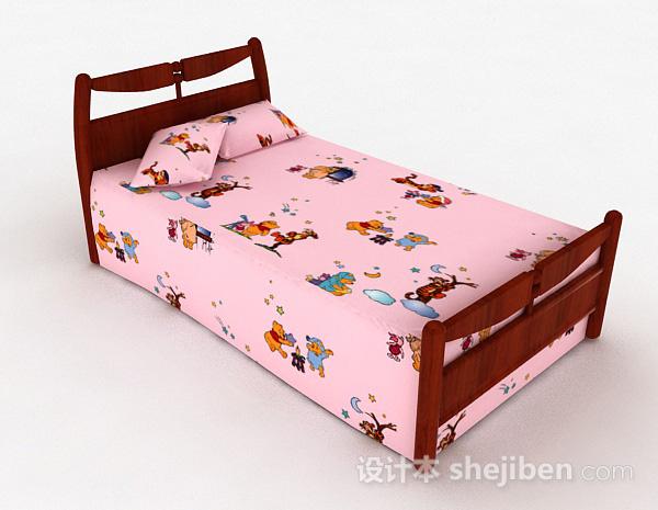 粉色儿童床