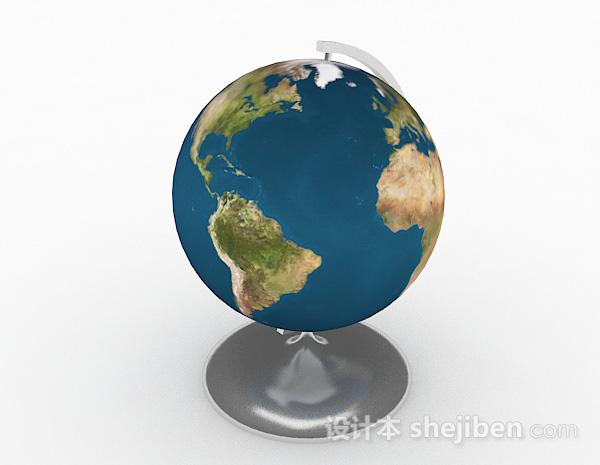 现代风格地球仪3D模型