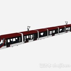 现代风格红色火车3d模型下载