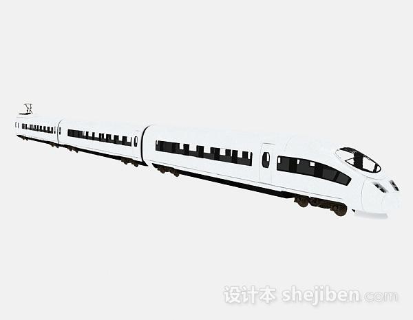 现代风格白色地铁模型