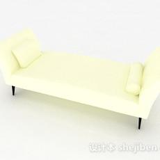 现代风格米白色布艺沙发脚凳3d模型下载