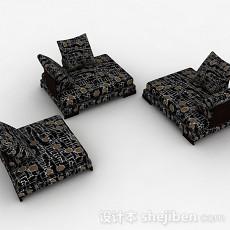 日式榻榻米坐垫组合3d模型下载