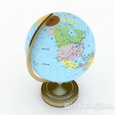 现代风格地球仪3d模型下载