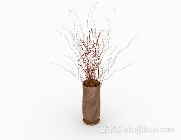 现代风格大理石花纹直筒花瓶