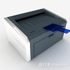 灰色打印机3d模型下载