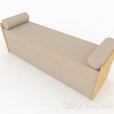 现代风格米白色长型脚凳3d模型下载