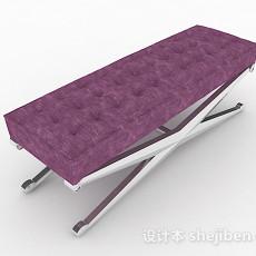 现代时尚紫色脚凳沙发3d模型下载