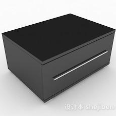 灰色简约床头柜3d模型下载
