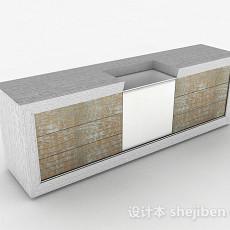 灰白色橱柜3d模型下载