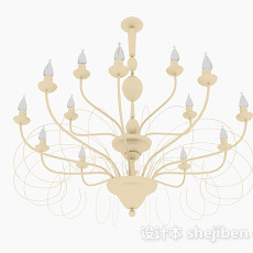 欧式古典吊灯3d模型下载