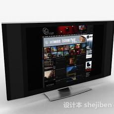 灰色家居电视机3d模型下载