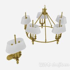 家居吊灯3d模型下载
