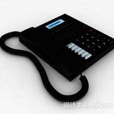 黑色电话机3d模型下载